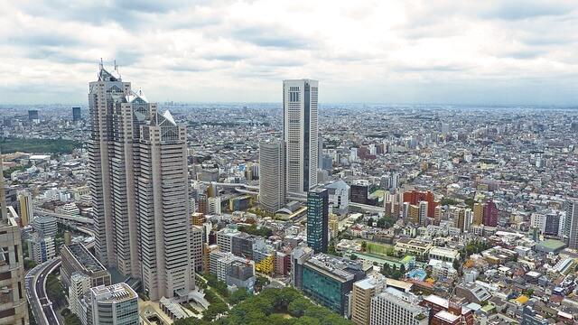 上空から見た都市
