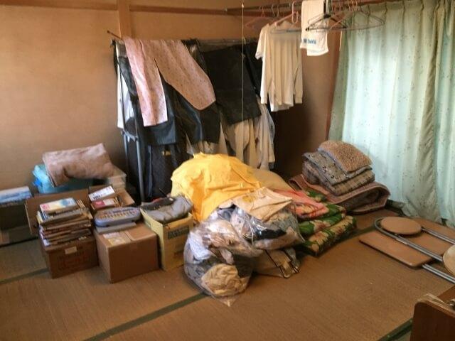 遺品整理した部屋
