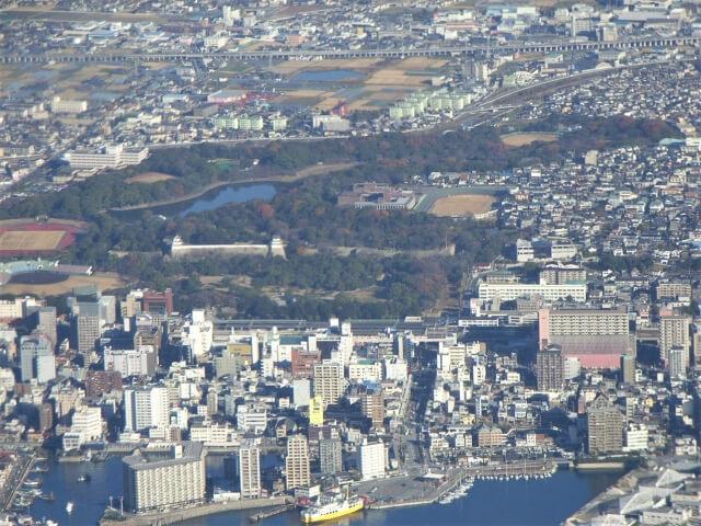 上空から見た明石市