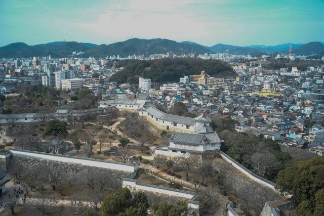 姫路城から見た姫路市