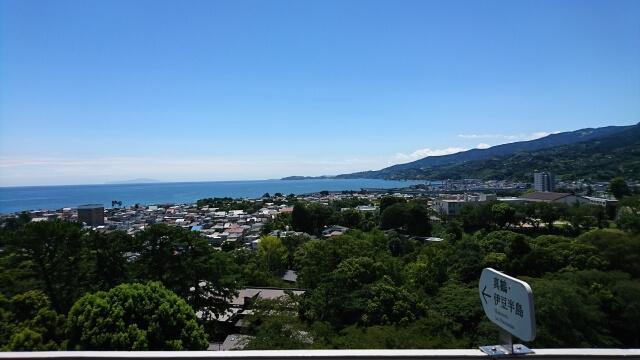 小田原城から見た小田原市