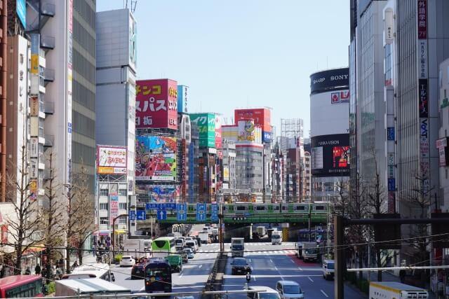 新宿区の道路