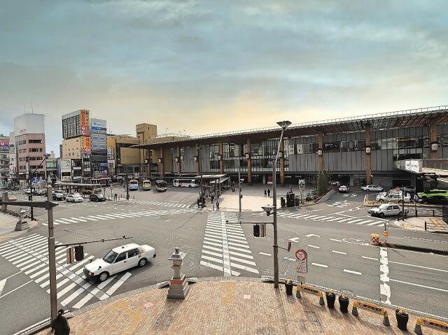 長野駅周辺の町並み