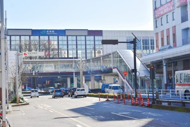 長岡駅周辺の街並み