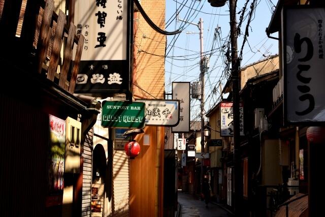 京都市中京区の街並み