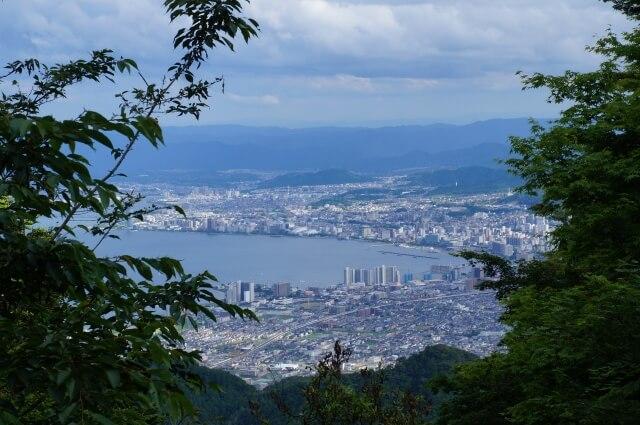 比叡山から見た大津市