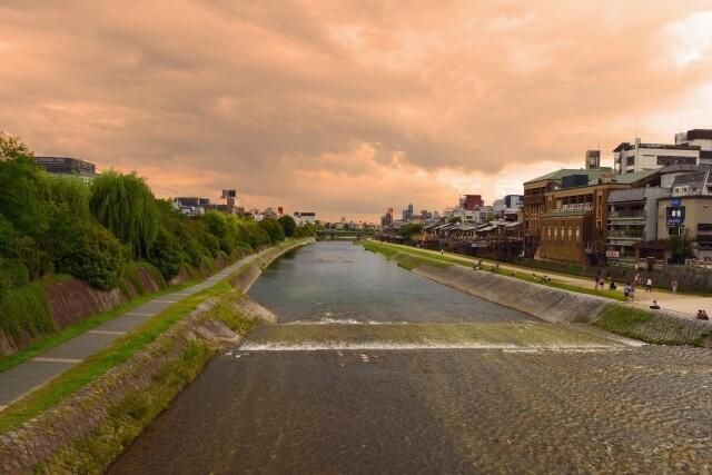 下京区に流れる川