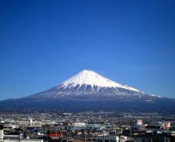 富士山と静岡市の街並み