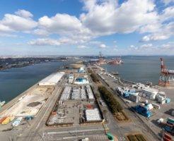 四日市市の港の展望